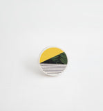 Palomino No.3 / Ceramic Brooch