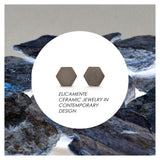 Hexagonal Earring No.8 / Ceramic / GREY