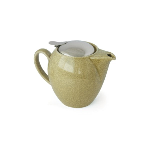 【Sample Sale】Bee House 19.6 Ounce Ceramic Teapot - Crackle Yellow -