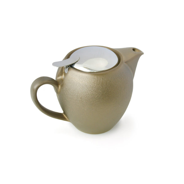 Bee House 19.6 Ounce Ceramic Teapot - Antique Gold -