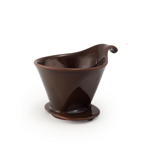 BEE HOUSE Pour-Over Ceramic Coffee Dripper - Coffee Brown -