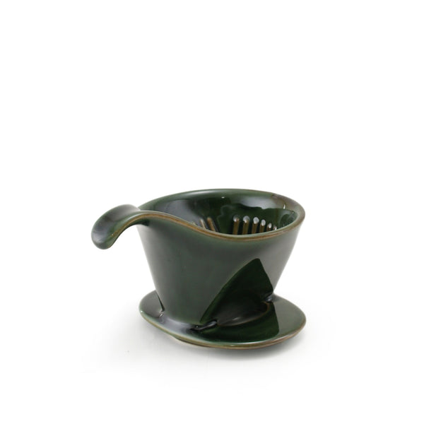 BEE HOUSE Pour-Over Ceramic Coffee Dripper - Antique Green -