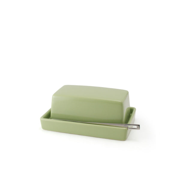 Ceramic Butter Dish with butter knife - Artichoke -