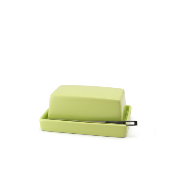 Ceramic Butter Dish with butter knife - Kiwi -