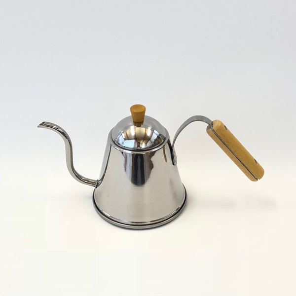 Wood Handled Stainless Steel Pourover Kettle 1.0L