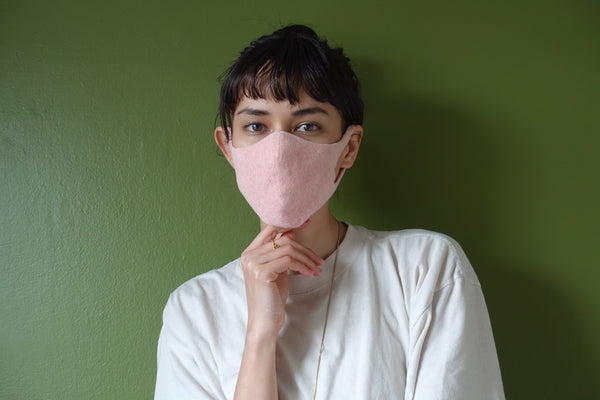 Unisex  Botanical Dyed Organic Cotton Face Mask - Carnation(Pink)