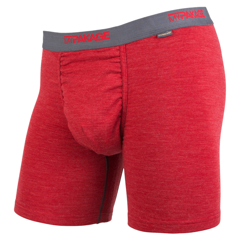 Crimson Heather Boxer-Brief