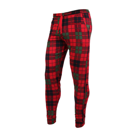 Unisex Sleepwear: Camp Vibe Plaid Unisex Sleepwear