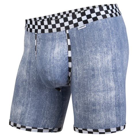 Weekday Boxer Brief: Denim Checkered