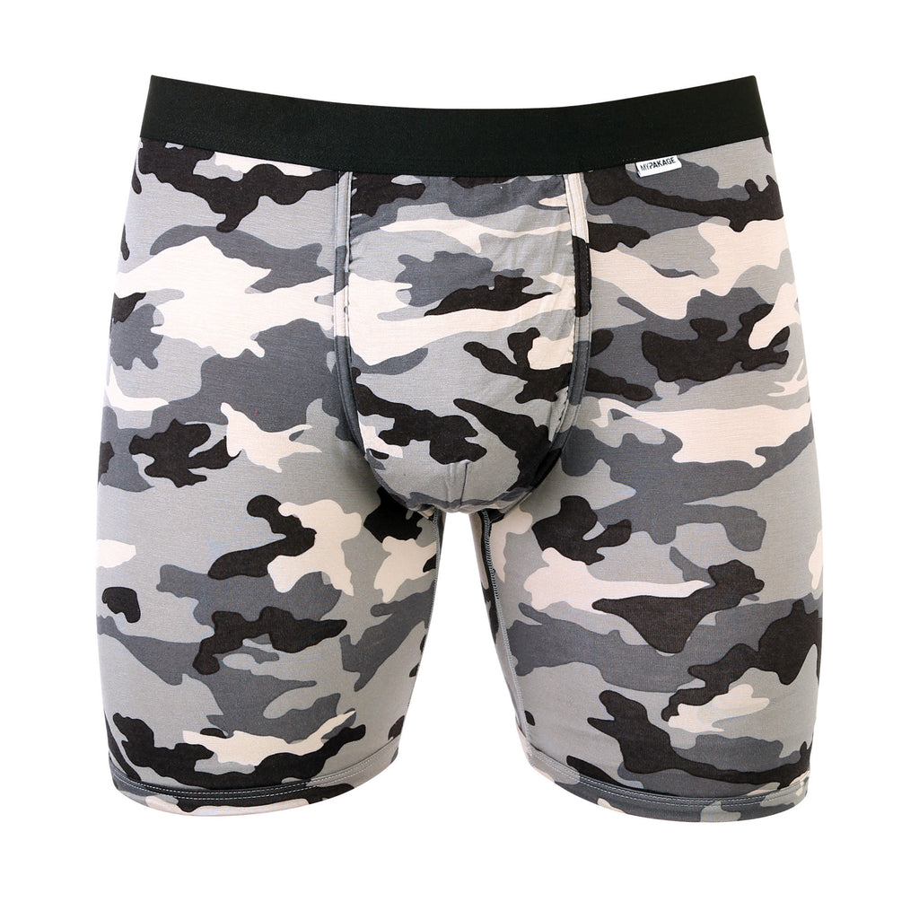 Weekday Boxer Brief: Snow Camo/Black