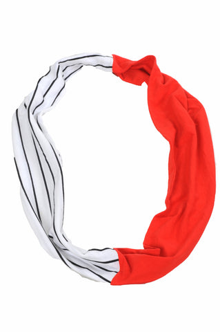 Red and Black Colorbock Infinity Scarf