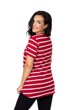 Alabama Crimson Tide Striped Sweet Tee