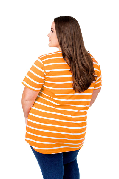 Plus Size Tennessee Vols Striped Sweet Tee