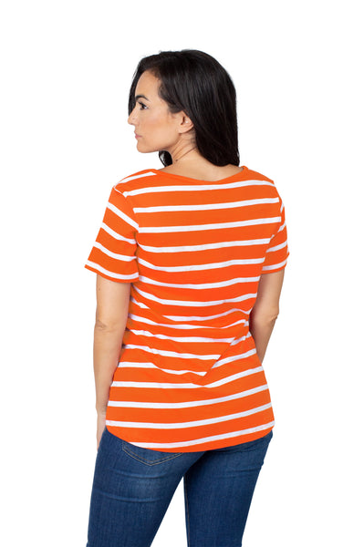 Clemson Tigers Striped Sweet Tee