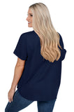 Virginia Cavaliers Navy Dolman Sleeve Top