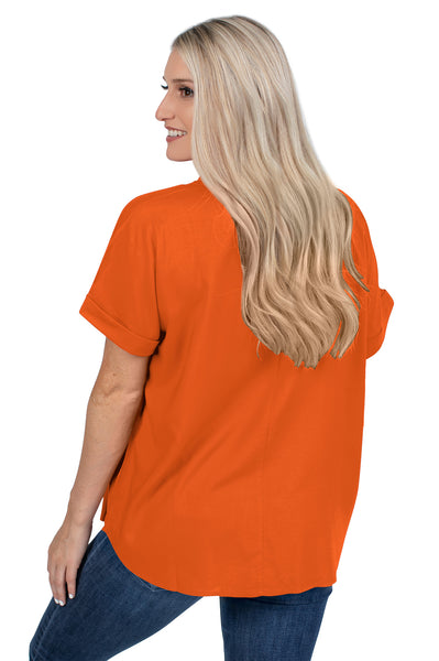 Clemson Tigers Orange Dolman Sleeve Top