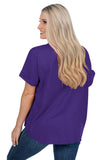 Clemson Tigers Purple Dolman Sleeve Top