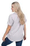 Short Sleeve Arizona State Striped Blouse