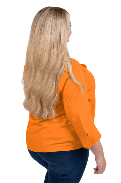Plus Size Tennessee Vols Flutter Sleeve Top