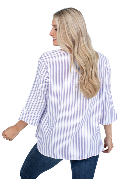 Clemson Tigers Striped Blouse