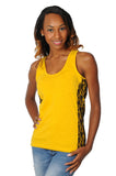 Gold and Black Lace Tank Top