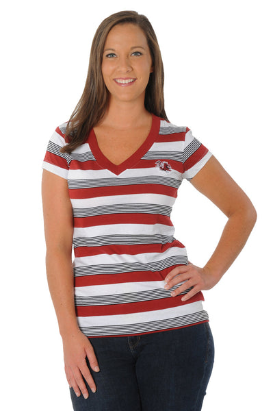 South Carolina Gamecocks Women's Striped Tee