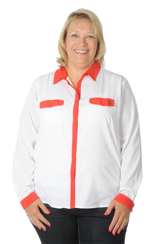 Plus Size Louisville Cardinals Blouse