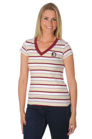 Florida State Seminoles Striped Tailgate Tee