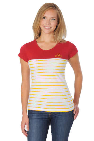 Iowa State University Cyclones Colorblock Striped Tee