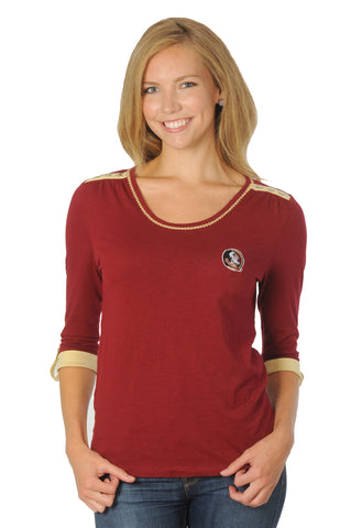 Florida State University Roll-Up Sleeve Top