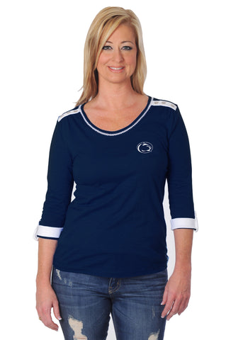 Penn State Roll-Up Sleeve Top