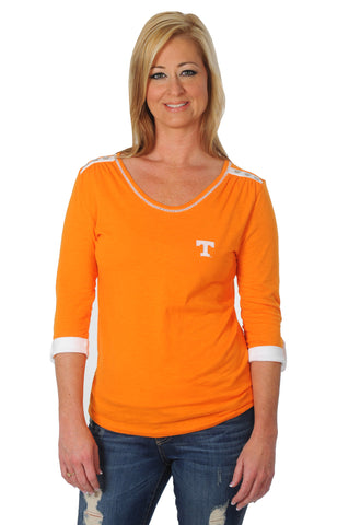 University of Tennessee Roll-Up Sleeve Top