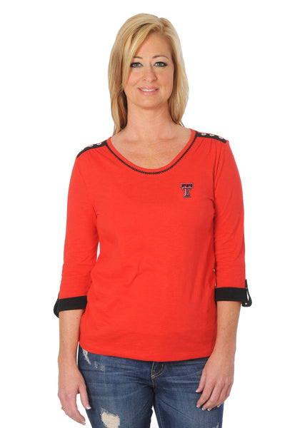 Texas Tech Red Raiders Roll-Up Sleeve Top
