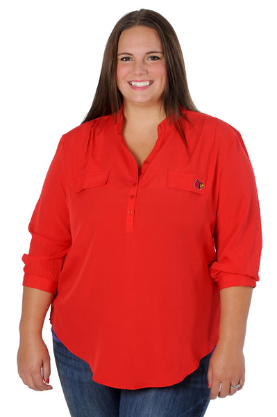 University of Louisville Plus Size Button Down Tunic