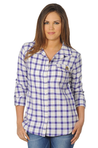 East Carolina University Boyfriend Plaid Shirt