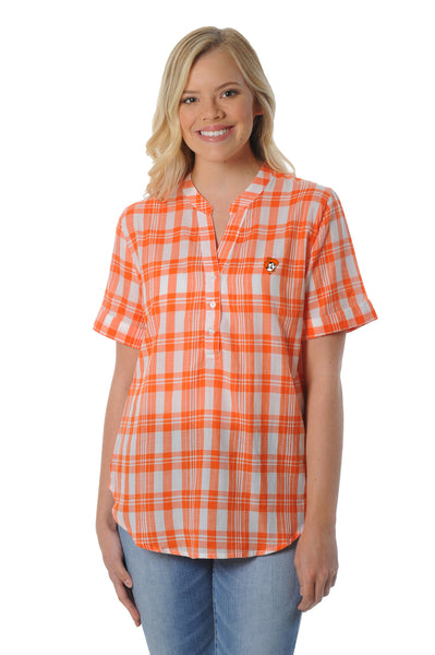 Oklahoma State Cowboys Short Sleeve Plaid