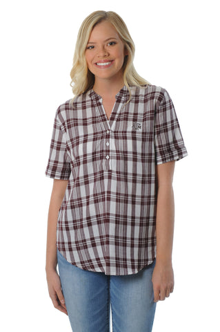 Texas A&M Aggies Short Sleeve Plaid