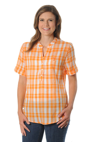 Tennessee Volunteers Short Sleeve Plaid