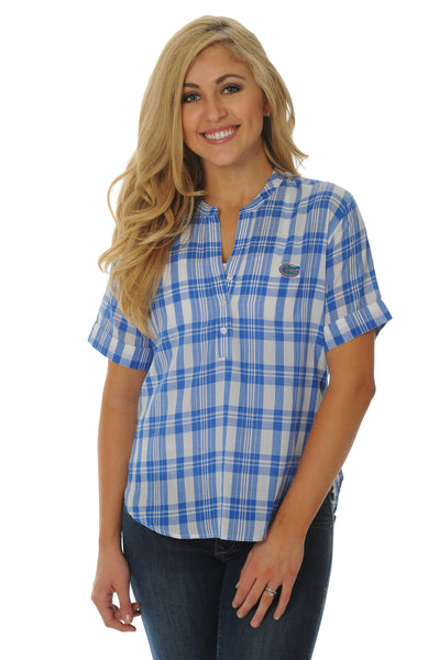 Florida Gators Short Sleeve Plaid