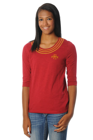 Iowa State Cyclones Open Stitch Top