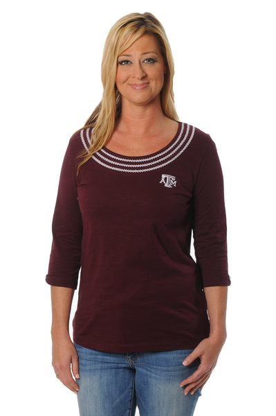 Texas A&M Aggies Open Stitch Top