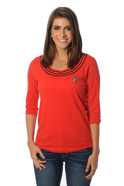 Texas Tech Red Raiders Open Stitch Top