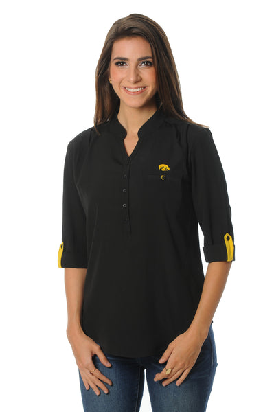 Iowa Hawkeyes Button Down Tunic