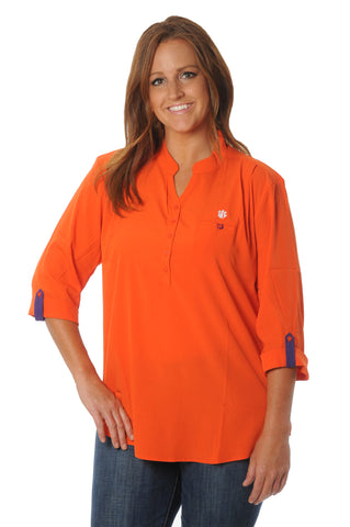 Plus Size Clemson Tigers Roll-Up Tunic