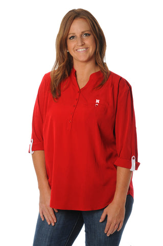 Plus Size Nebraska Cornhuskers Roll-Up Tunic