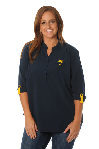 Plus Size Michigan Wolverines Roll-Up Tunic