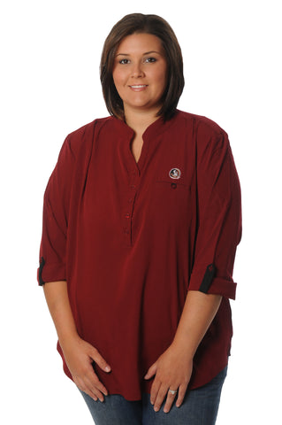 Plus Size Florida State Seminoles Roll-Up Tunic