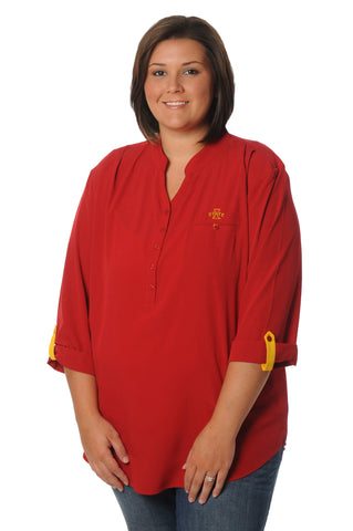 Plus Size Iowa State Cyclones Roll-Up Tunic
