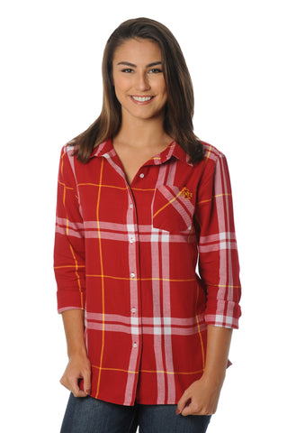 Iowa State Cyclones Plaid Flannel Top