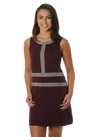 Maroon and Grey Game Day Dress